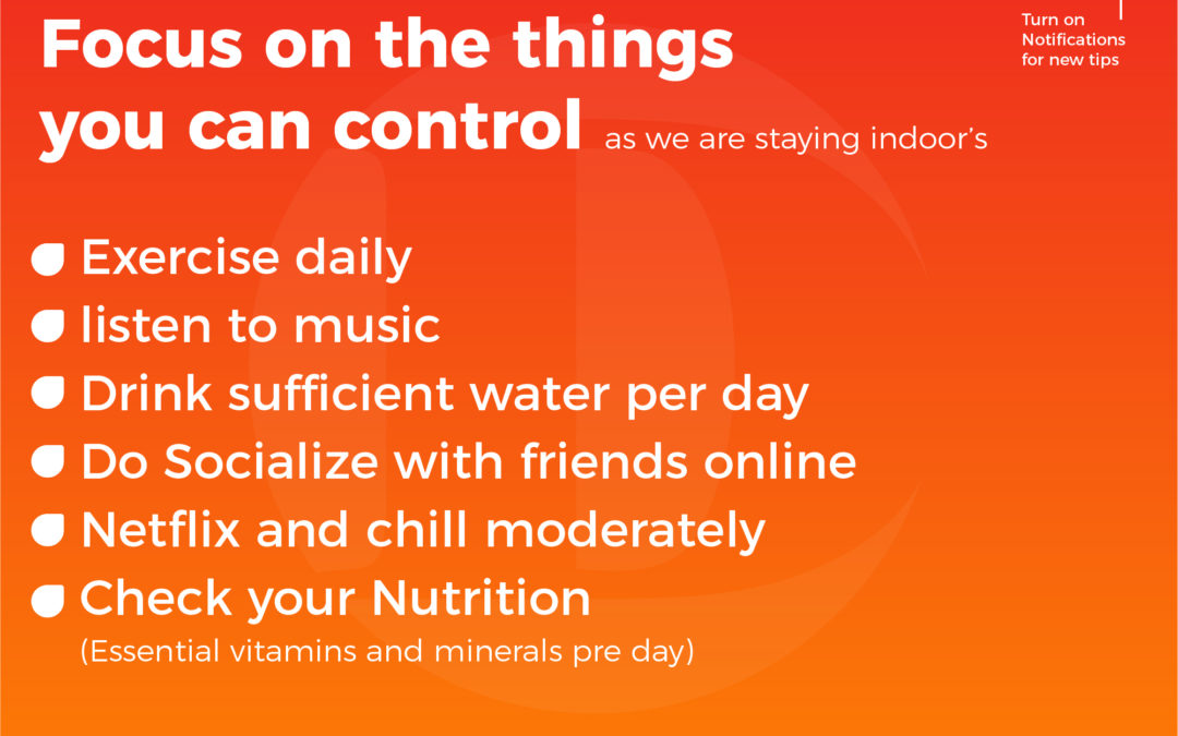#Day 5 Focus on the things you can control